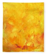 Golden Flames Fleece Blanket