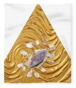 Golden Flow Creator Fleece Blanket