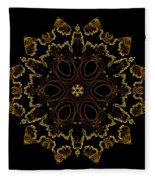 Golden Flower Of The Night Fleece Blanket
