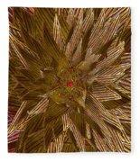 Golden Flower - Ruby Heart Fleece Blanket