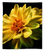 Golden Flower  Fleece Blanket