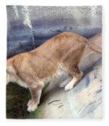 Golden Fur Lioness Fleece Blanket