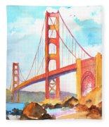 Golden Gate Bridge 3 Fleece Blanket