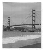 Golden Gate Bridge And Beach Fleece Blanket