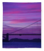 Golden Gate Bridge At Twilight Fleece Blanket
