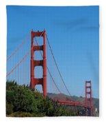Golden Gate Bridge In Spring Fleece Blanket