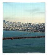 Golden Gate Bridge Fleece Blanket by Linda Woods