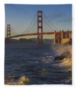Golden Gate Bridge Sunset Study 2 Fleece Blanket
