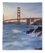 Golden Gate Bridge Sunset Study 5 Fleece Blanket
