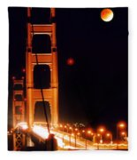 Golden Gate Night Fleece Blanket