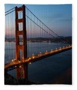 Golden Gate Sunrise Fleece Blanket