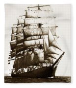 Golden Gate Tall Ship Circa 1905 Fleece Blanket