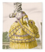 Golden Gown, Engraved By Dupin, Plate Fleece Blanket