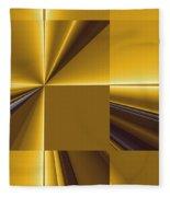 Golden Graphic Fleece Blanket