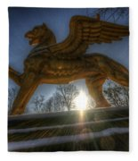Golden Griffin Fleece Blanket
