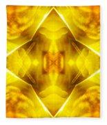 Golden Harmony  Fleece Blanket