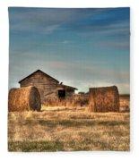 Golden Hay Fleece Blanket
