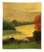 Golden Haze Fleece Blanket