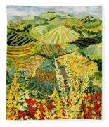 Golden Hedge Fleece Blanket