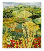 Golden Hedge Fleece Blanket