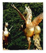 Golden Horses Fleece Blanket