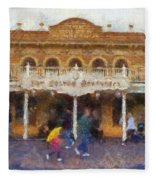 Golden Horseshoe Frontierland Disneyland Photo Art 02 Fleece Blanket