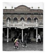 Golden Horseshoe Frontierland Disneyland Sc Fleece Blanket