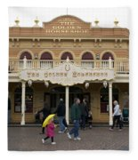 Golden Horseshoe Frontierland Disneyland Fleece Blanket