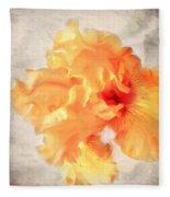 Golden Iris 2 Fleece Blanket