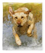 Golden Labrador Fleece Blanket
