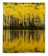 Golden Lake Fleece Blanket