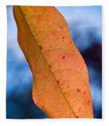 Golden Lanceolate Leaf Fleece Blanket
