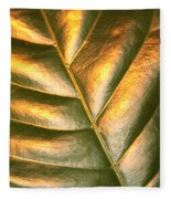 Golden Leaf 2 Fleece Blanket