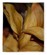 Golden Leafed Abstract 2013 Fleece Blanket