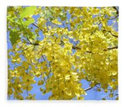 Golden Medallion Shower Tree Fleece Blanket