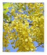 Golden Medallion Shower Tree Fleece Blanket