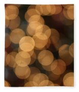 Golden Orbs Fleece Blanket