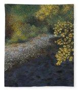 Golden Overhang Fleece Blanket