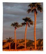 Golden Palm Trees Fleece Blanket
