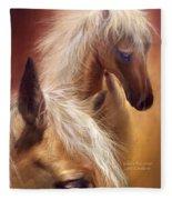 Golden Palomino Fleece Blanket