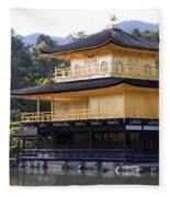 Golden Pavilion Kyoto Fleece Blanket