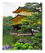 Golden Pavilion - Kyoto Fleece Blanket