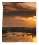 Golden Payette River Fleece Blanket