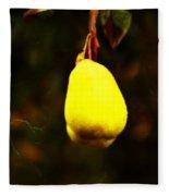 Golden Pear Fleece Blanket