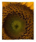 Golden Petals Fleece Blanket