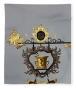 Golden Pharmacy Sign Fleece Blanket