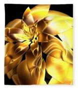 Golden Pineapple By Jammer Fleece Blanket