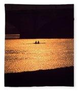 Golden Potomac Fleece Blanket