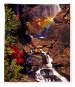 Golden Rainbow Fleece Blanket