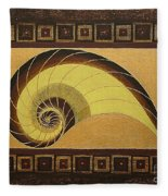 Golden Ratio Spiral Fleece Blanket
